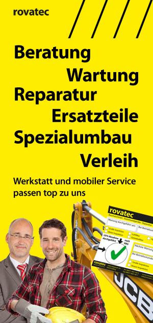 kauf, service, reparatur, wartung, verleih, miete von baumaschinen und motorgeräten bei rovatec baumaschinen